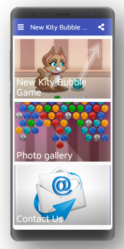New Kity Bubble Game screenshot 1