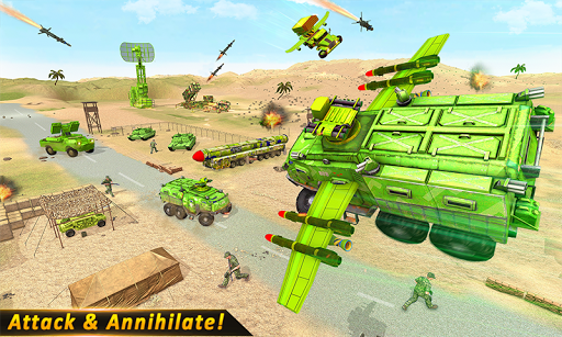 Flying missile Truck Attack screenshot 1