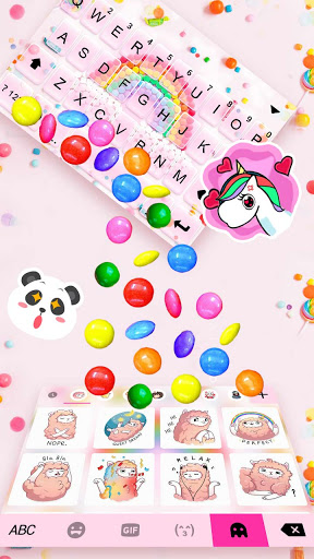 Color Candy Gravity Keyboard Background screenshot 3