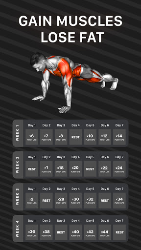 Workout Planner by Muscle Booster screenshot 1