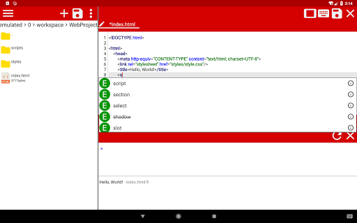 WebCode - ide for html, css and javascript screenshot 9