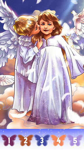 Angel color by number screenshot 13