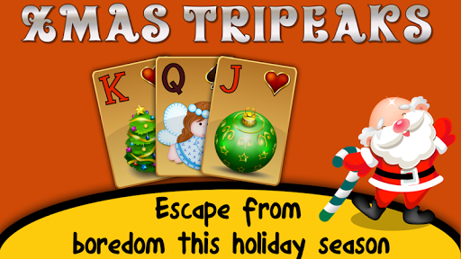 Xmas TriPeaks, card solitaire, tournament edition screenshot 1