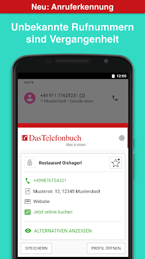 Das Telefonbuch with caller ID and spam protection screenshot 2