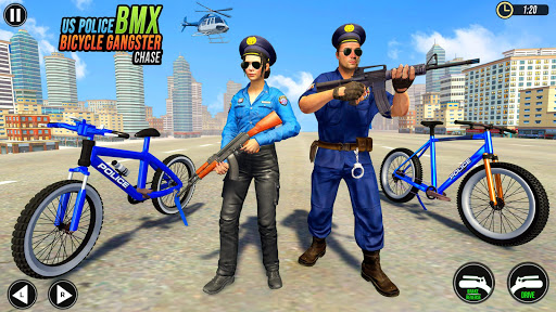 US Police BMX Bicycle Street Gangster Chase screenshot 2
