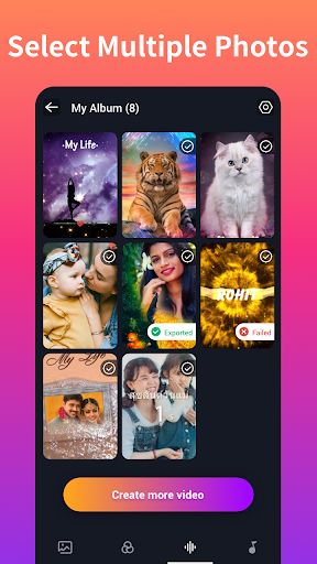 Snack Video Maker Photos with Song - Mast screenshot 8