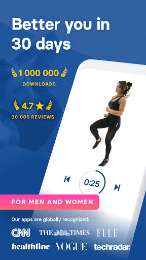 HIIT & Cardio Workout by Fitify screenshot 1