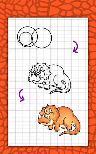 How to draw cute dinosaurs step by step, lessons screenshot 23