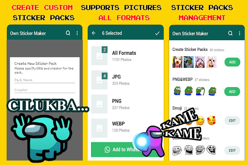 Kumpulan Stiker WA Among Us screenshot 6