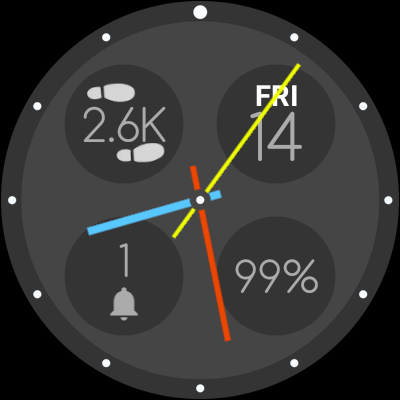 Bubble Cloud Tile Launcher / Watchface (Wear OS) screenshot 26