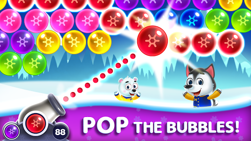 Frozen Pop Bubble Shooter Game screenshot 2