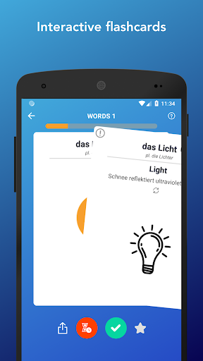 Learn German Words,Verbs,Articles with Flashcards screenshot 2
