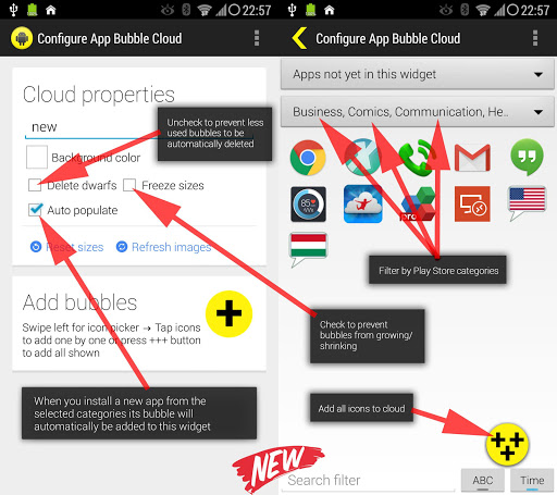 Bubble Cloud Widgets + Folders for phones/tablets screenshot 19