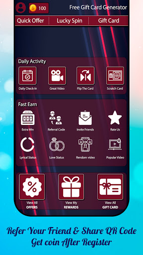 Daily Watch Video & Earn Money Real Gift Generator screenshot 2