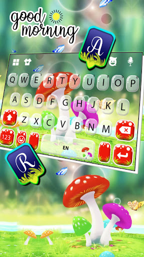 Cute Mushrooms Keyboard Background screenshot 3