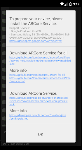 ARCore Measure (for all) screenshot 1