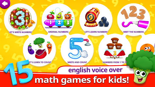 Funny Food 123! Kids Number Games for Toddlers screenshot 1