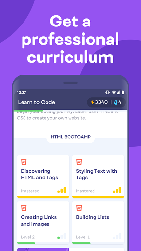 Mimo: Learn coding in JavaScript, Python and HTML screenshot 5