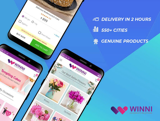 Winni - Cake, Flowers & Gifts Delivery India screenshot 1