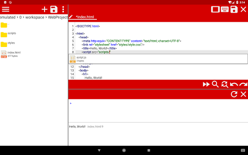 WebCode - ide for html, css and javascript screenshot 10