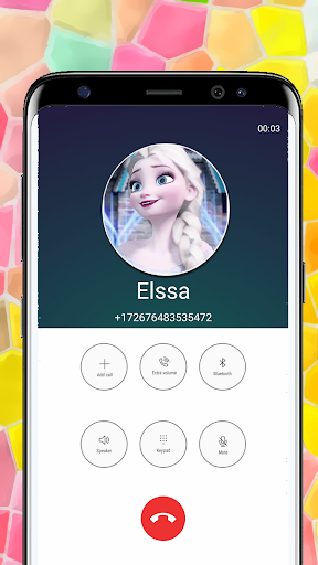 Call from Elssa Chat & video call (Simulation) screenshot 4