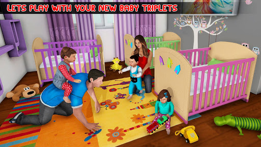 New Mother Baby Triplets Family Simulator screenshot 12