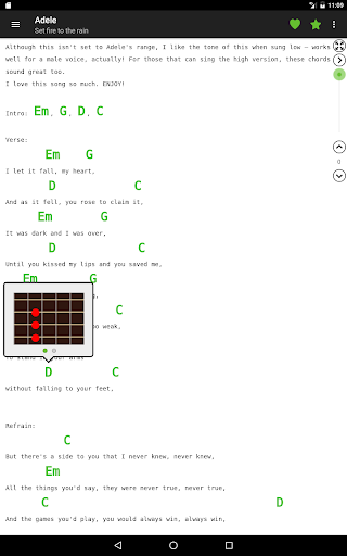 Guitar chords and tabs 屏幕截图 7