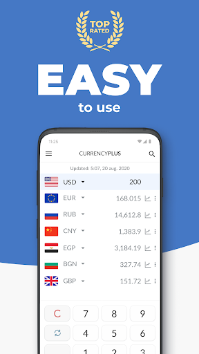 Currency Converter Plus Free with AccuRate™ screenshot 1