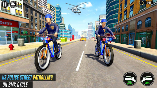 US Police BMX Bicycle Street Gangster Chase screenshot 5