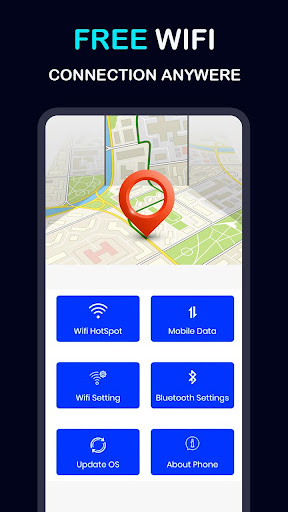 Free WIFI Connection Anywhere Network Map Connect screenshot 1
