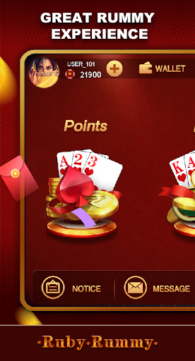 Ruby Rummy-Indian Online Free Card Game screenshot 1