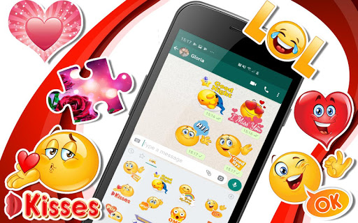 💕😍WAStickerApps animated stickers for Whatsapp screenshot 1