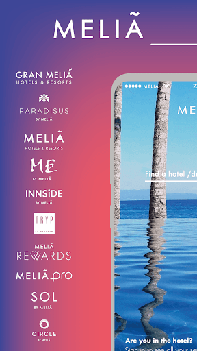 Meliá · Room booking, hotels and stays screenshot 1