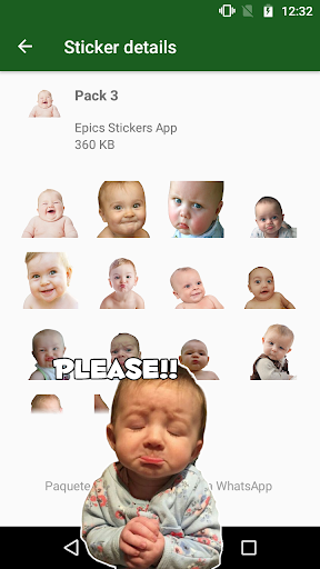 WAstickerApps Babies Funny Faces with Phrases screenshot 2