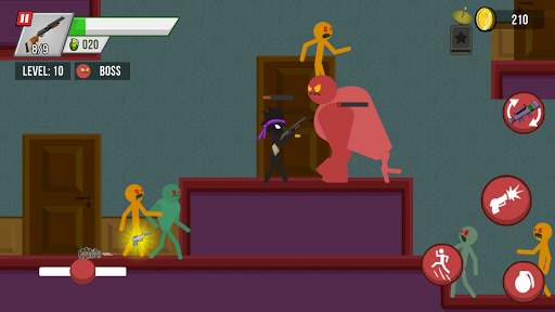 Stickman vs Zombies screenshot 4