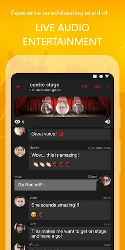 WOLF - Live Audio Shows & Group Chat screenshot 1