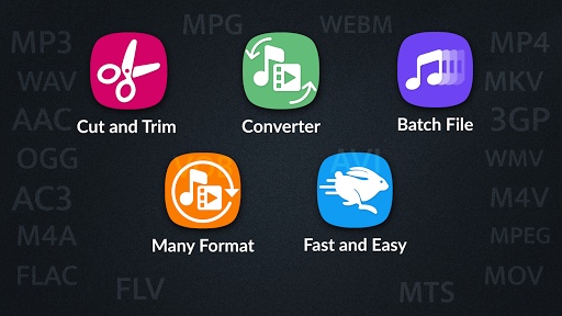 MP4, MP3 Video Audio Cutter, Trimmer & Converter screenshot 1