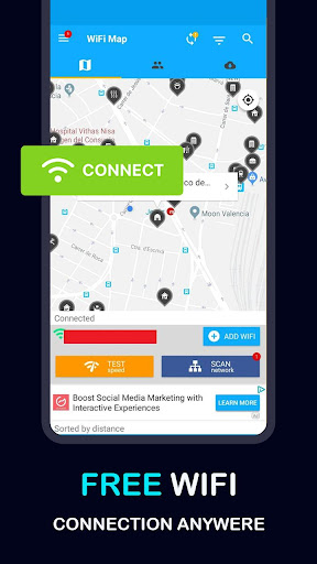 Free WIFI Connection Anywhere Network Map Connect screenshot 2