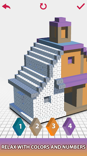House Voxel Paint by Number screenshot 7