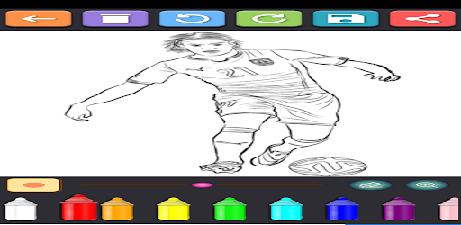 Coloring Soccer Players screenshot 1