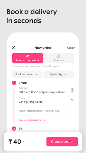Wefast — Courier Delivery Service screenshot 1