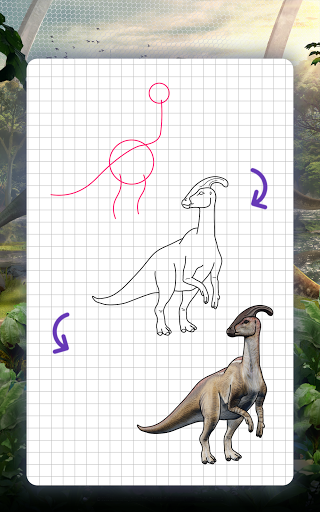 How to draw dinosaurs. Step by step lessons screenshot 10