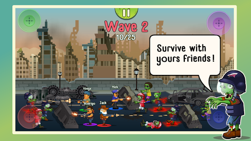 Four guys & Zombies (four-player game) screenshot 1