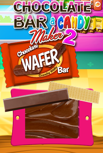 Chocolate Candy Bars Maker & Chewing Gum Games screenshot 2