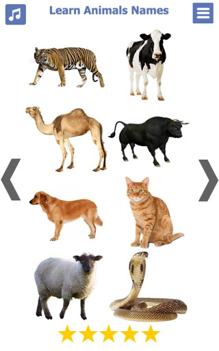 Learn Animals Name Animal Sounds Animals Pictures tangkapan layar 3