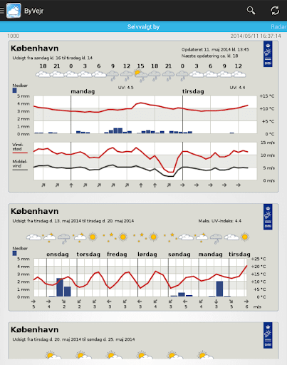 Weather in Denmark from DMI and YR - CityWeather screenshot 8