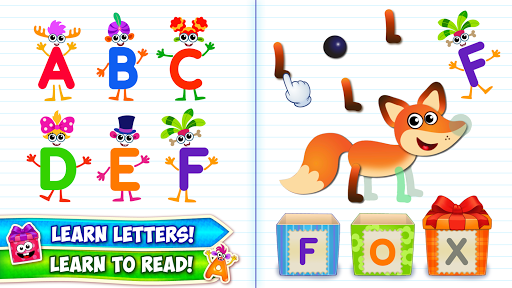 Baby ABC in box Kids alphabet games for toddlers screenshot 1
