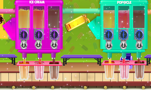 Ice Cream Popsicle Factory Snow Icy Cone Maker screenshot 2