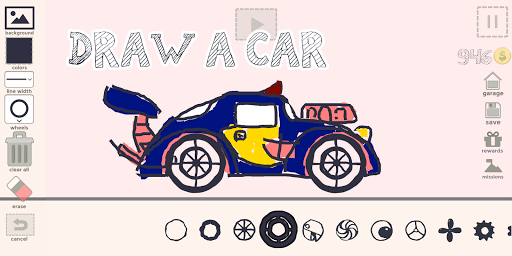 Draw Your Car - Create Build and Make Your Own Car screenshot 1