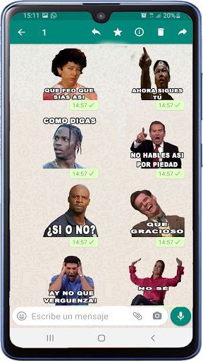 Memes with phrases Spanish Stickers WAStickerApps screenshot 5